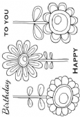 Woodware - Bold Blooms - Daisy Bunch - Clear Magic Single Stamp - JGS569